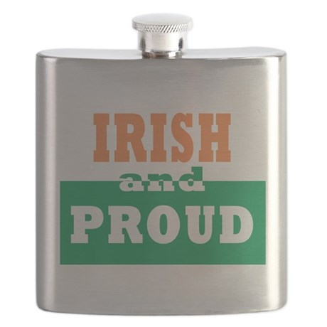 Irish and proud T-Shirt.png Flask