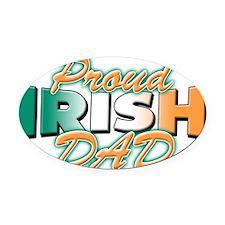 Proud Irish Dad Oval Car Magnet