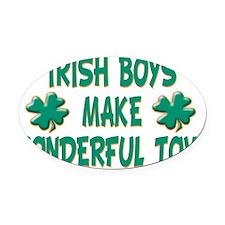 Irish Boys Oval Car Magnet