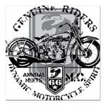 genuine riders.png Square Car Magnet 3