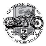genuine riders.png Round Car Magnet