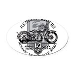 genuine riders.png Oval Car Magnet