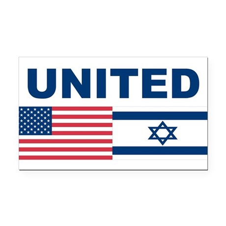Support Isreal Rectangle Car Magnet