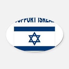 Support Isreal Oval Car Magnet