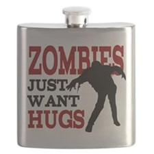 Zombies Just Want Hugs Flask