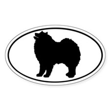 Samoyed Oval Bumper Stickers