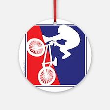 BMX Bike Rider Ornament (Round)
