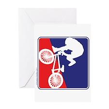 BMX Bike Rider Greeting Card
