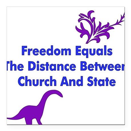 """freedom01.png Square Car Magnet 3"""" x 3"""""""