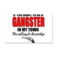gangster.png Rectangle Car Magnet