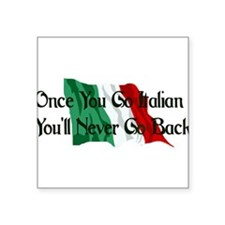 "italian01.png Square Sticker 3"" x 3"""