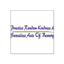 "Cute Good karma Square Sticker 3"" x 3"""