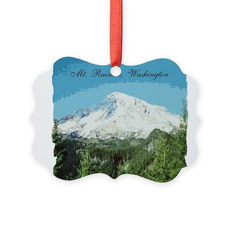 Mt. Rainier #2 Picture Ornament