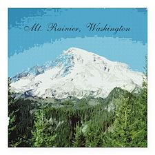 """Mt. Rainier #2 Square Car Magnet 3"""" x 3"""""""