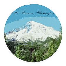 Mt. Rainier #2 Round Car Magnet