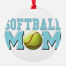 softball mom(white).png Ornament