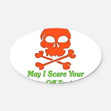 scarepants01.png Oval Car Magnet