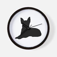 Chi Cutout (Black) Wall Clock