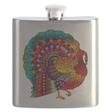 Thanksgiving Jeweled Turkey Flask
