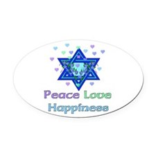 peacelove01.png Oval Car Magnet