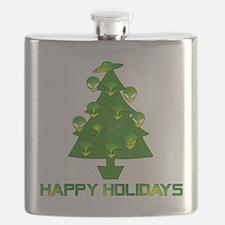 Alien Christmas Tree Flask