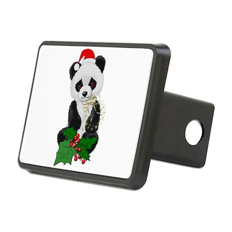 christmas_panda01.png Rectangular Hitch Cover