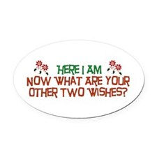 hereiam01.png Oval Car Magnet