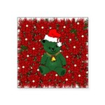 christmaspillow02.png Square Sticker 3