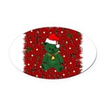 christmaspillow02.png Oval Car Magnet