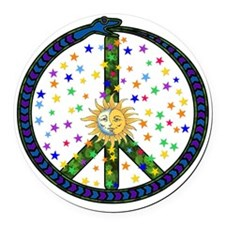solstice_peace01.png Round Car Magnet