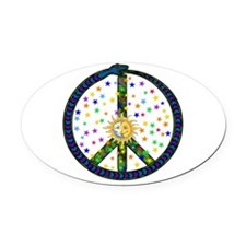 solstice_peace01.png Oval Car Magnet