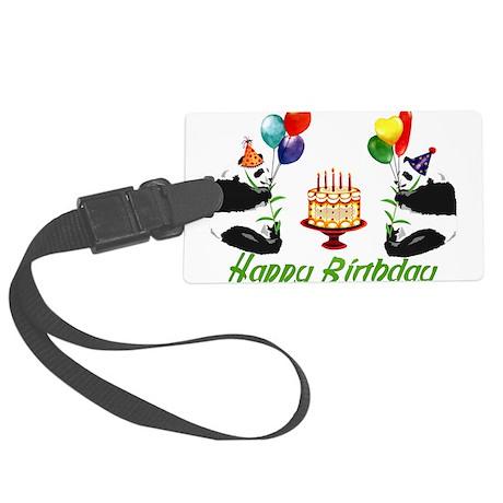 birthday_pandas01.png Large Luggage Tag