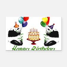 birthday_pandas01.png Rectangle Car Magnet