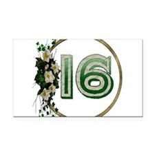 16thbirthday01.png Rectangle Car Magnet