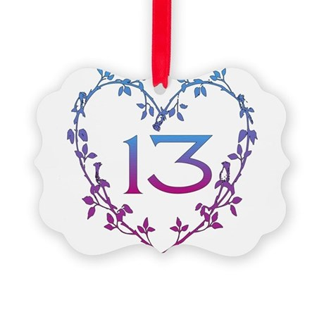 13th_birthday01.png Picture Ornament