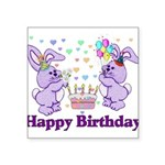 birthdaybunny01.png Square Sticker 3