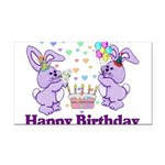 birthdaybunny01.png Rectangle Car Magnet