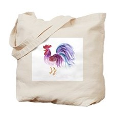 Pastel Rooster Tote Bag