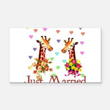 just_married01.png Rectangle Car Magnet