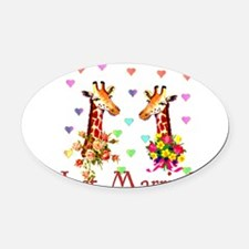 just_married01.png Oval Car Magnet