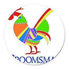 2-groomsman01.png Round Car Magnet