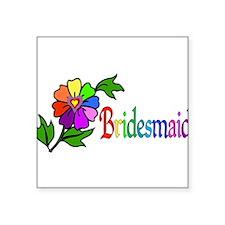 "bridesmaid01.png Square Sticker 3"" x 3"""