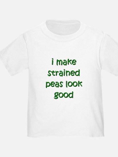 i make strained peas look goo T