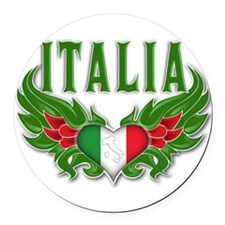 italy T-Shirt.png Round Car Magnet