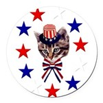july4th_07.png Round Car Magnet