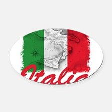 italia rectangle sticker.png Oval Car Magnet