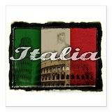 Italian flag Square Car Magnets