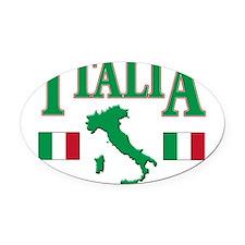 Italia(blk).png Oval Car Magnet