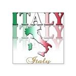 italy country(blk) T-Shirt.png Square Sticker 3