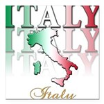 italy country(blk) T-Shirt.png Square Car Magnet 3